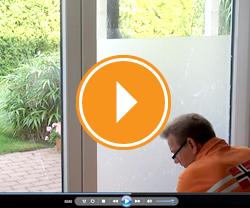 Fensterfolienmontage ohne Motiv