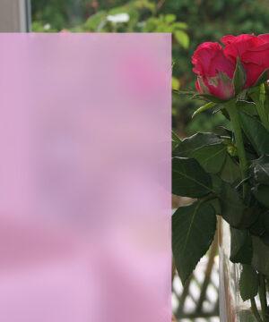 Sichtschutzfolie in Sandstrahloptik rose'