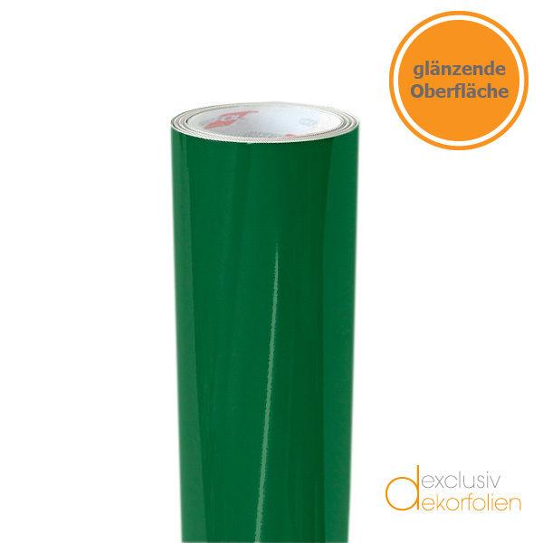 dunkelgrüne Klebefolie in glänzend