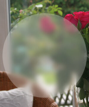 runde selbstklebende Folie in Ice Etched Optik