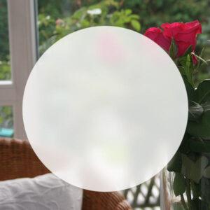 Runde Milchglasfolie als Sichtschutz