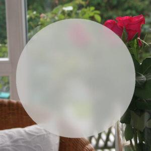 runde Sichtschutzfolie in Sandstrahloptik