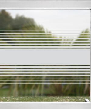 Sichtschutzfjolie mit Streifen Hamburg doppelt