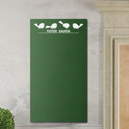 Tafelfolie mit Vögeln in grün