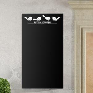 Tafelfolie mit Vögeln in schwarz